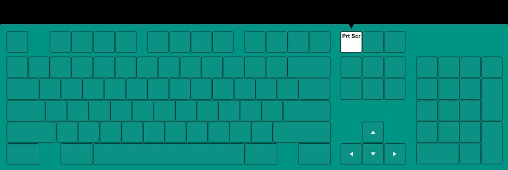 Print Screen - zaznaczony przycisk na klawiaturze komputera.